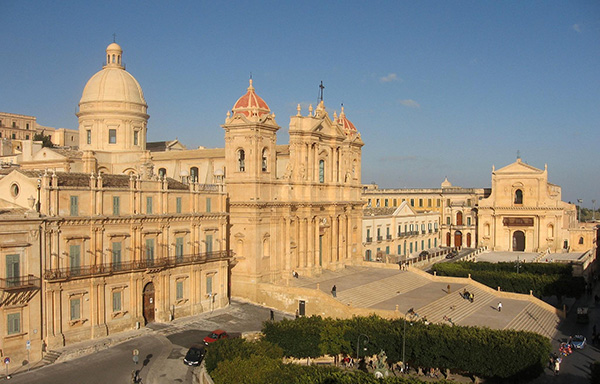 View of St Nicholas Church Guide to Noto