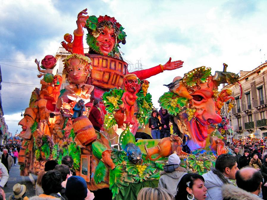 Carnival float acireale